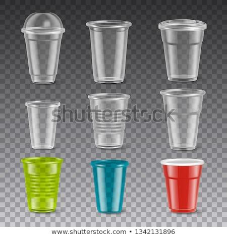 Műanyag csésze izolált eldobható edények iroda Stock fotó © MaryValery