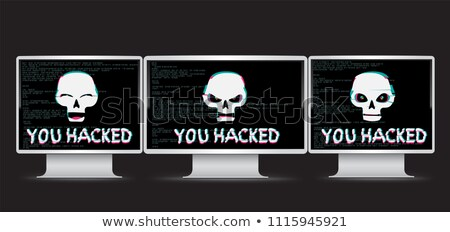 funny skull and text you hacked Stock photo © romvo