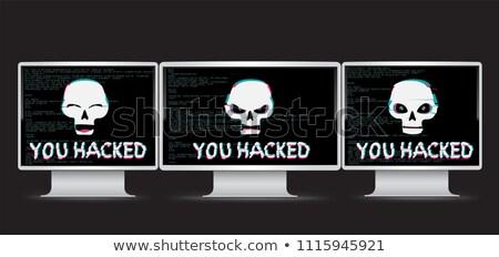 bűnözés · szem · absztrakt · montázs · radar · hálózat - stock fotó © romvo