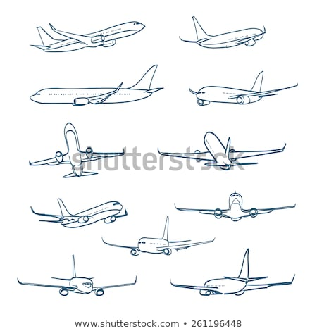 large commercial aircraft in sky stock photo © bluering