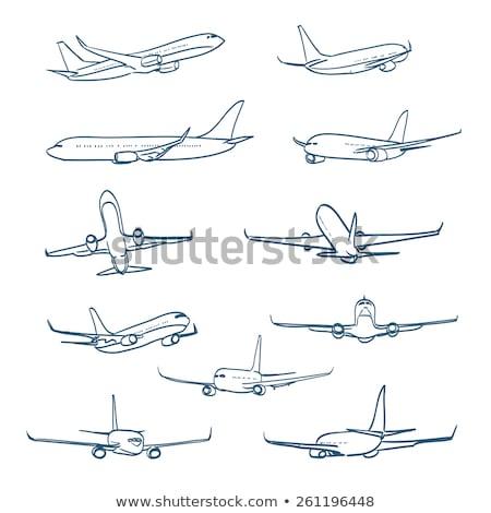 商業 航空機 空 実例 芸術 ストックフォト © bluering