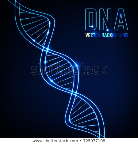 DNA chain. Abstract scientific background. Beautiful illustraion. Biotechnology, biochemistry, genet Stock photo © user_11870380