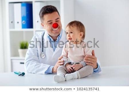 子供 · 赤 · ピエロ · 鼻 · 幸せ · 子 - ストックフォト © dolgachov