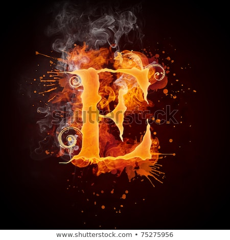 fogo · redemoinho · carta · isolado · preto · computador - foto stock © rastudio
