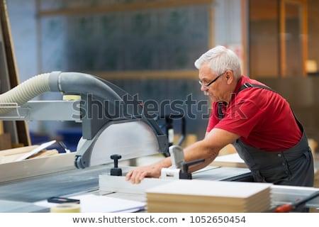 Carpinteiro painel serra fábrica produção indústria Foto stock © dolgachov