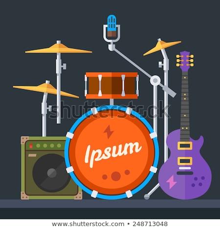 flat music instruments banners concept. Vector illustrator design Stock photo © Linetale