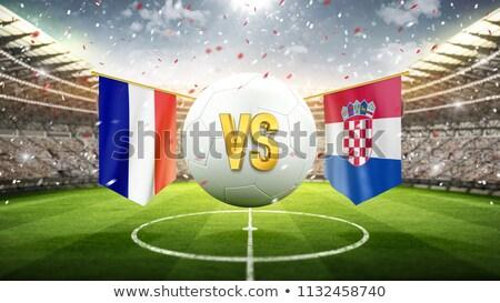 Son dünya fincan Fransa vs Hırvatistan Stok fotoğraf © Oakozhan