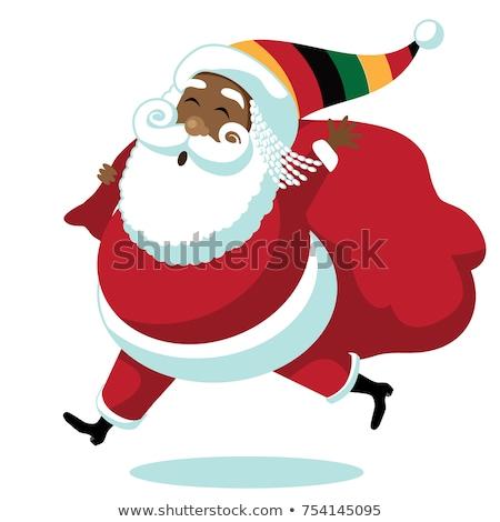 marihuana · christmas · mascotte · geïsoleerd · witte · glimlach - stockfoto © doomko