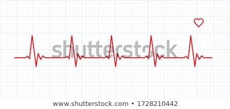 Abstract hartslag illustratie medische hart pulserende Stockfoto © alexaldo