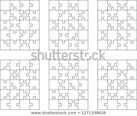 Fehér puzzle különálló darabok terv minta Stock fotó © ratkom