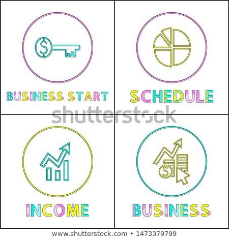 Сток-фото: бизнеса · начала · ключевые · графика · диаграмма · растущий