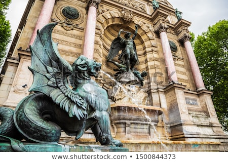 Fontaine Saint Michel in Paris Stock photo © boggy
