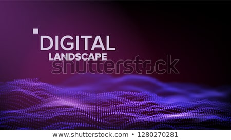 Adat tájkép vektor energia űr topográfia Stock fotó © pikepicture