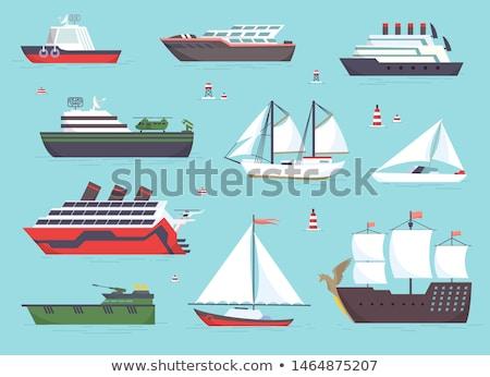Víz szállítás vitorlázik csónak hajók szett Stock fotó © robuart