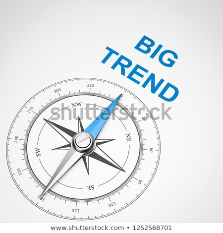 Compass on White Background, Big Trend Concept Stock photo © make