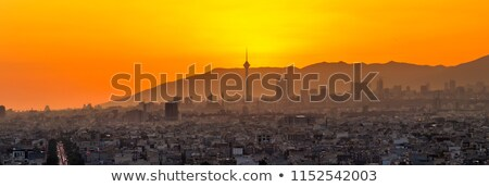 Tehran panorama at sunset. Iran Stock photo © joyr