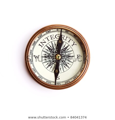 Stock photo: Compass on White Background, Integrity Concept
