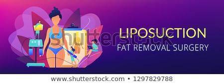 Zsírleszívás szalag fejléc műanyag sebész cső Stock fotó © RAStudio