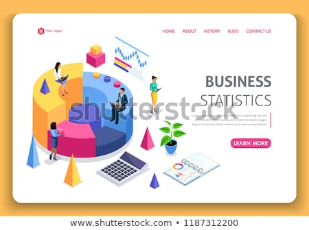 Statistic Web Pages, Visualized Information Charts Stock photo © robuart