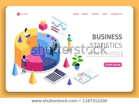 Statystyczny internetowych informacji wykresy wektora Zdjęcia stock © robuart