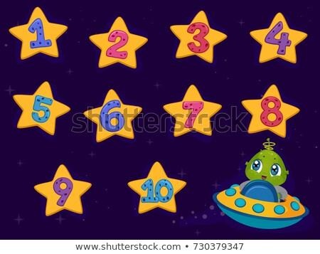 Straniero stelle uno dieci illustrazione guardando Foto d'archivio © lenm