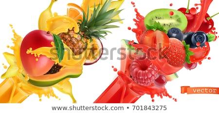 Szenvedély gyümölcs görögdinnye szett vektor plakátok Stock fotó © robuart