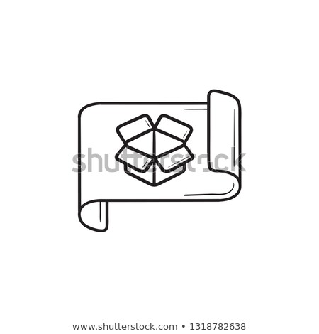 gráfico · papel · ícone · ilustração · branco · negócio - foto stock © rastudio