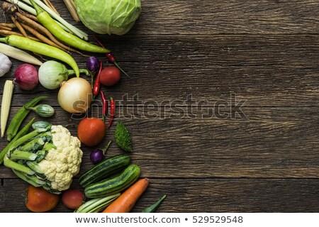 Veggies on wood Stock photo © AGfoto