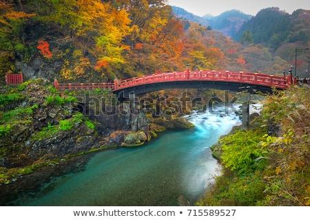 Puente Japón rojo naturaleza mundo Foto stock © daboost