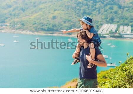 отцом сына пляж Пхукет Таиланд детей Сток-фото © galitskaya