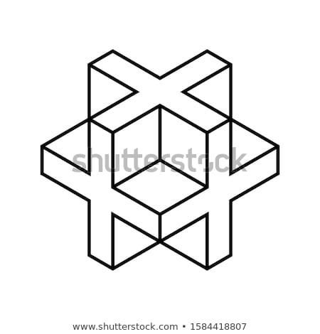 Kereszténység skicc izometrikus ikonok eps 10 Stock fotó © netkov1
