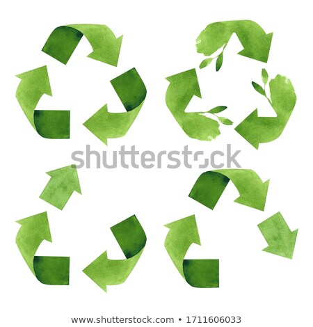 Recycleren teken icon eco symbool Stockfoto © user_10144511