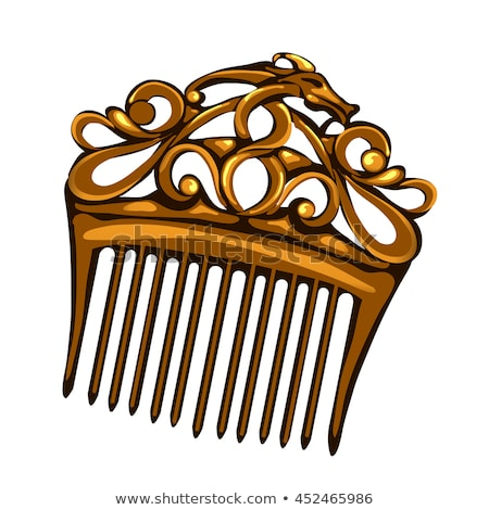 vector golden hairpin comb Foto stock © VetraKori