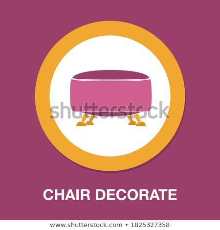 Modern sofa isolated Vector. Furniture icon design. Sale decorat Stock photo © frimufilms