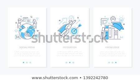 empresário · tarde · reunião · linha · projeto · estilo - foto stock © decorwithme