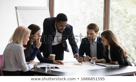 Erklärung Sitzung ein weiblichen Stock foto © pressmaster