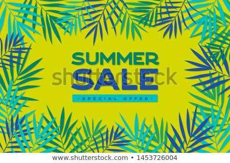 Discount Sale, Summertime Offer Vector Palm Leaves Stock photo © robuart