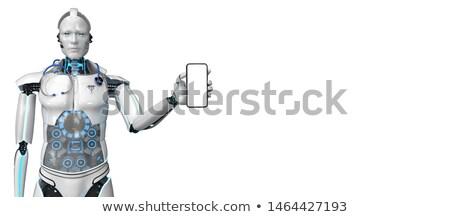 Humanoid Robot Medical Assistant Smarthone Stock photo © limbi007