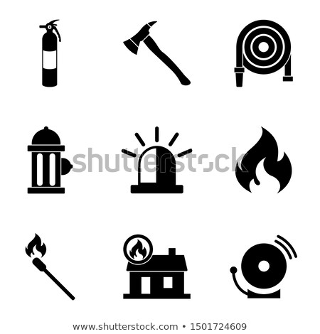 Set icons of firefighting equipment Stock photo © netkov1