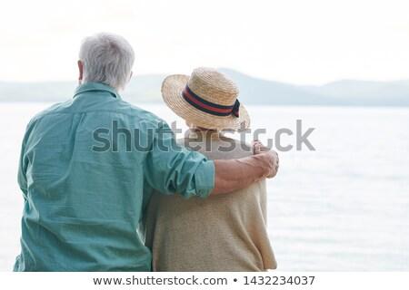 peaceful and romantic senior couple in casualwear stock photo © pressmaster
