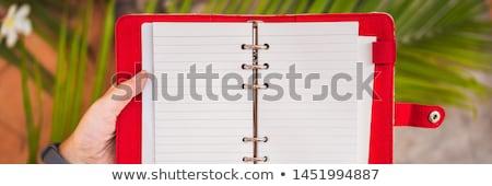 Bloco de notas artigos de papelaria negócio estudar Foto stock © galitskaya