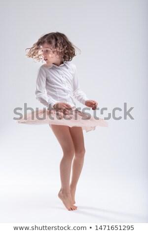 Bonitinho pequeno descalço menina branco estúdio Foto stock © Giulio_Fornasar