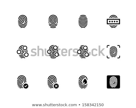 Palców skaner wektora podpisania ikona cienki Zdjęcia stock © pikepicture