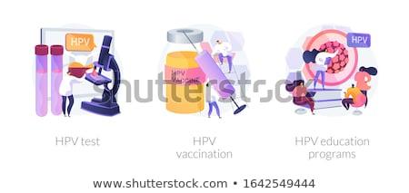menselijke · infectie · virus · model · gezondheid · huid - stockfoto © rastudio