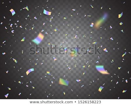 カラフル 紙吹雪 ネオン ライト 壁 ストックフォト © SArts
