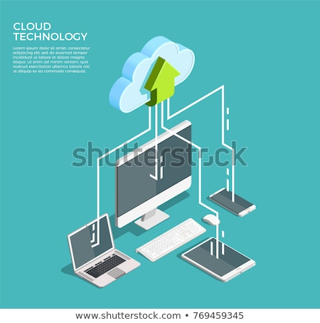 Mobile Phone Cloud Services stock photo © kbuntu