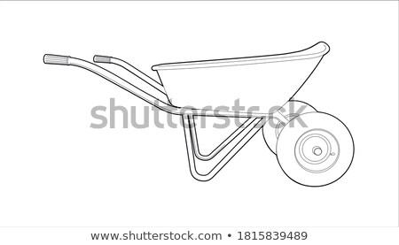 Wheelbarrow Metal Cart Loaded with Vegetables Stock photo © robuart