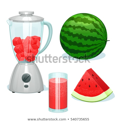 cocktail in glass watermelon vector illustration photo stock © robuart
