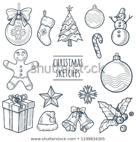 かわいい · クリスマス · 雪だるま · にログイン · 冬 · 男 - ストックフォト © sonya_illustrations