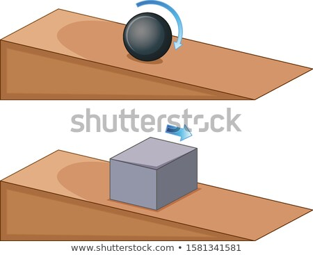 Two objects rolling on slope Stock photo © bluering
